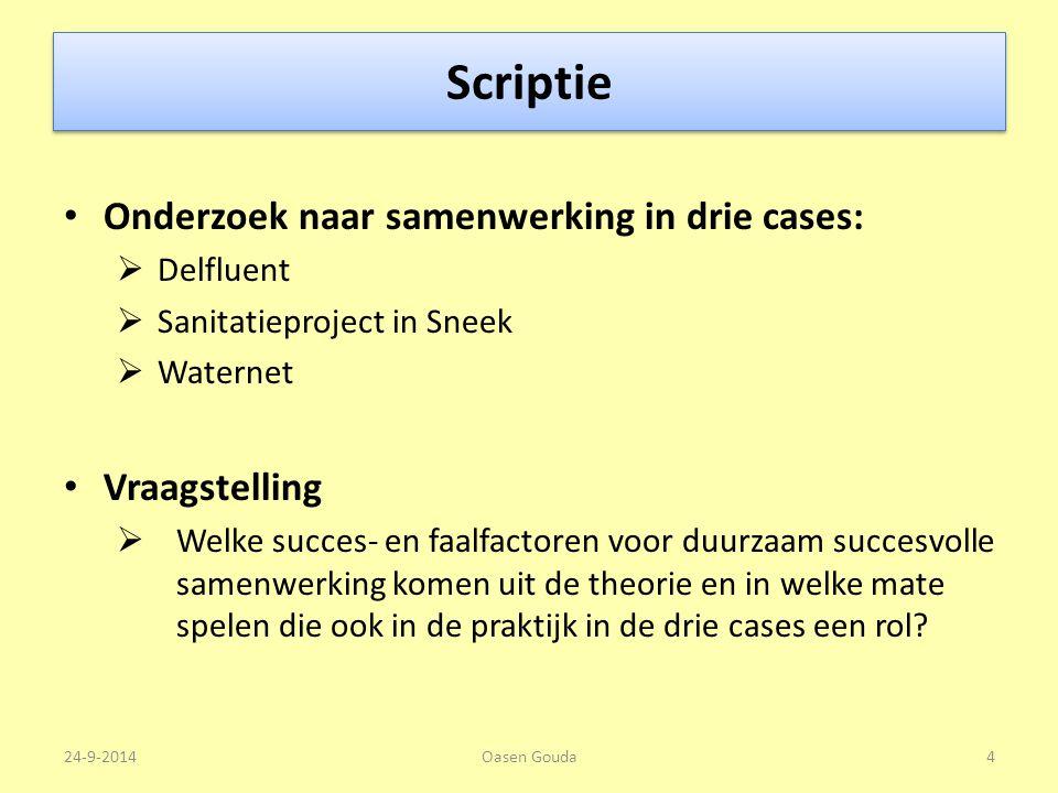 Scriptie Onderzoek naar samenwerking in drie cases: Vraagstelling