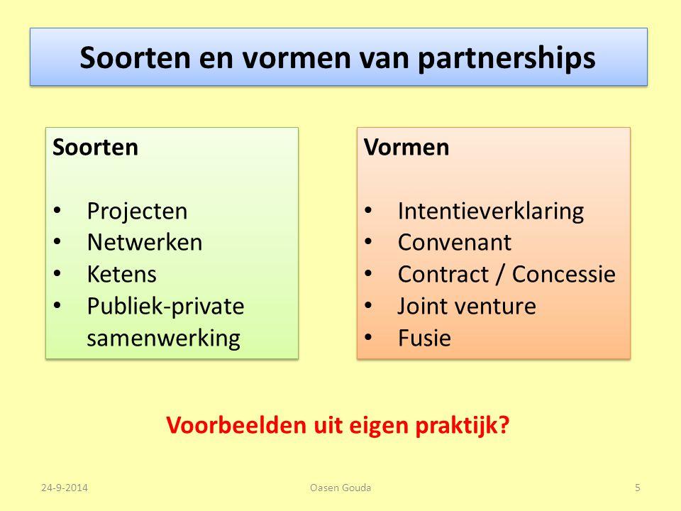 Soorten en vormen van partnerships