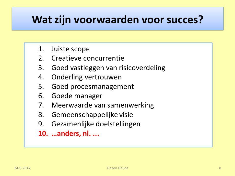Wat zijn voorwaarden voor succes