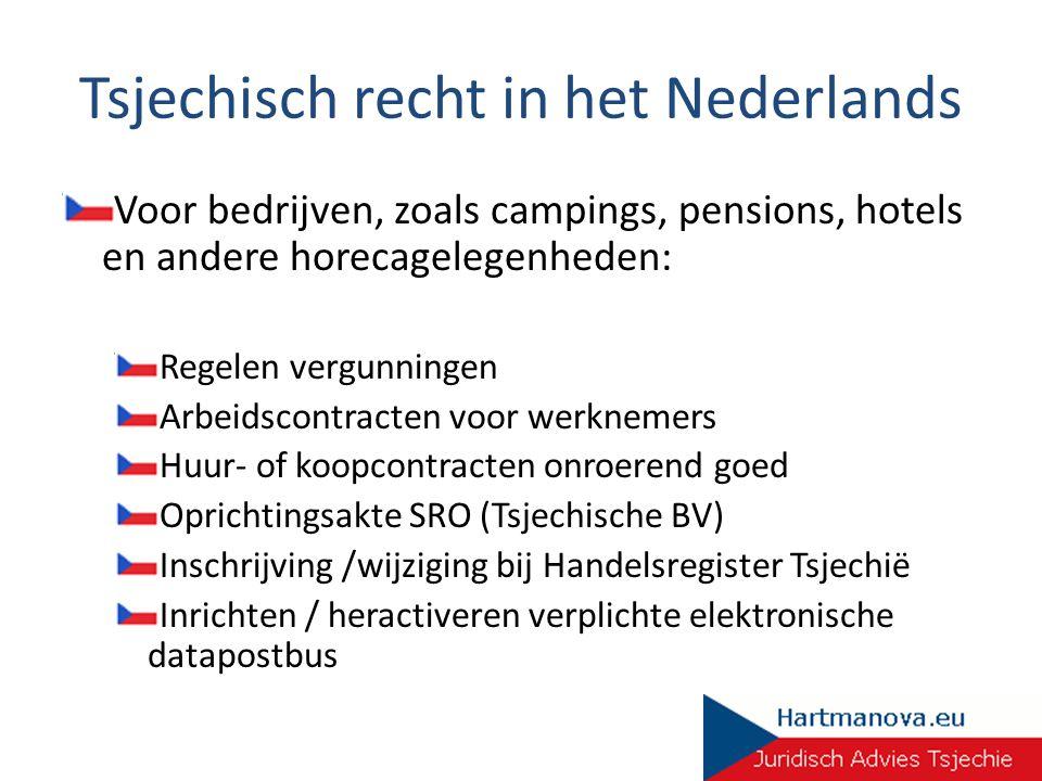 Tsjechisch recht in het Nederlands