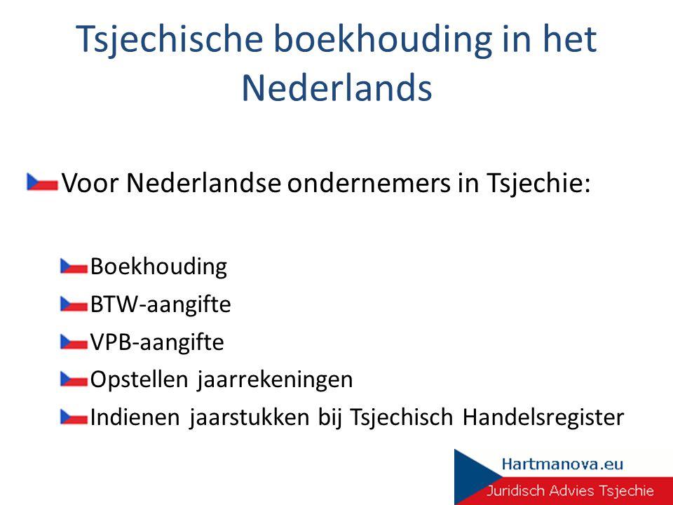 Tsjechische boekhouding in het Nederlands