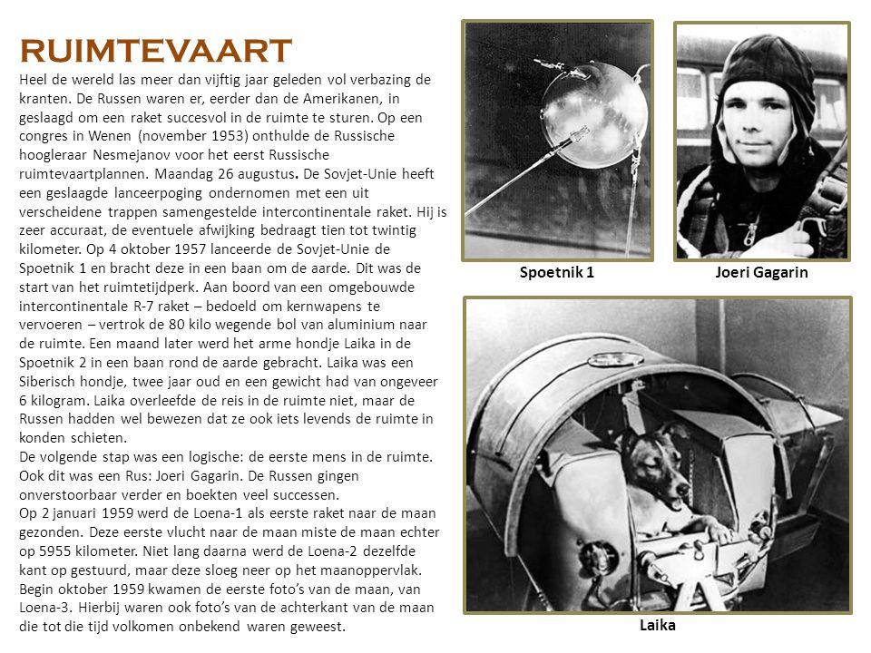 RUIMTEVAART Spoetnik 1 Joeri Gagarin Laika