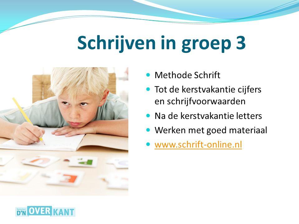 Schrijven in groep 3 Methode Schrift