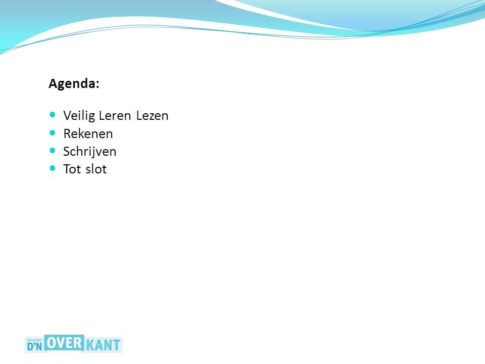 Agenda: Veilig Leren Lezen Rekenen Schrijven Tot slot