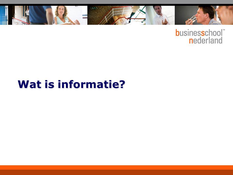 Wat is informatie