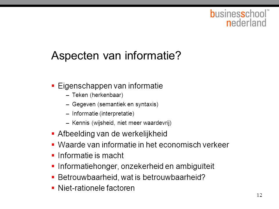 Aspecten van informatie