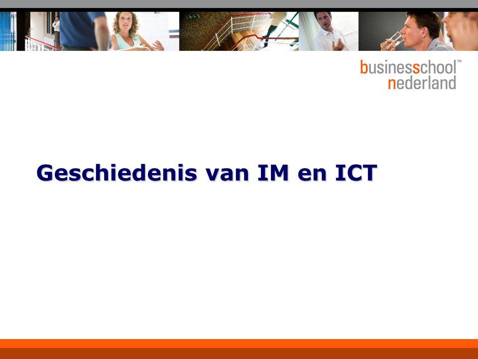 Geschiedenis van IM en ICT