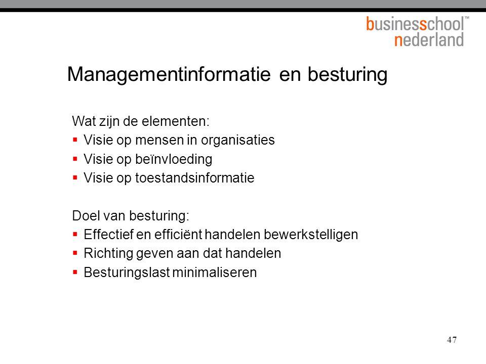 Managementinformatie en besturing