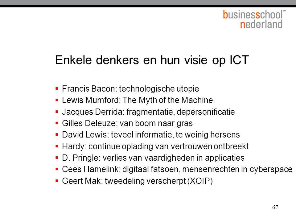 Enkele denkers en hun visie op ICT
