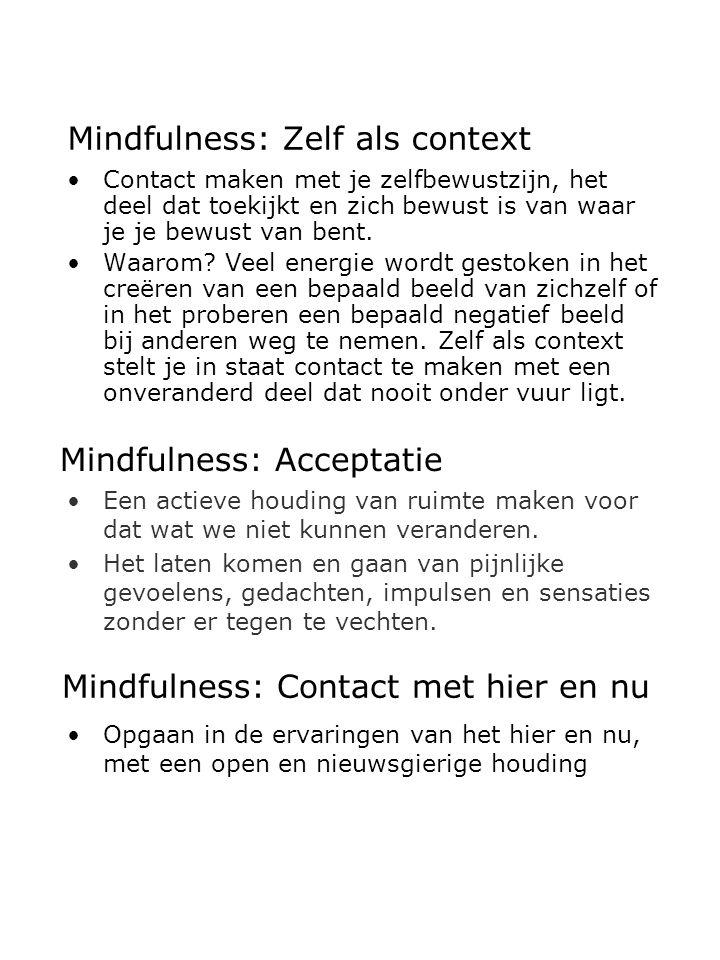 Mindfulness: Zelf als context