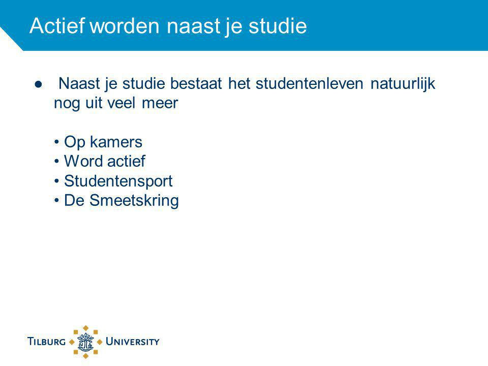 Op kamers De gemiddelde huur per maand is in Tilburg ongeveer 250 euro voor een kamer van 12-14m2.