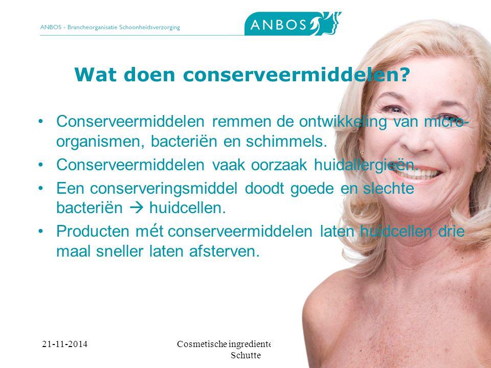 Wat doen conserveermiddelen