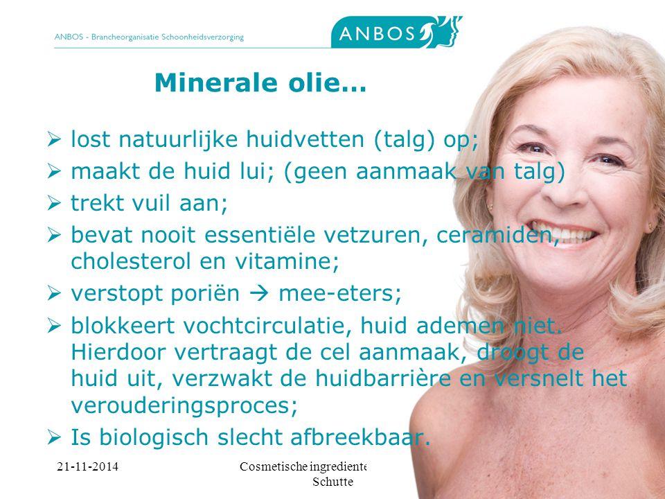Cosmetische ingredienten, Marieke Schutte