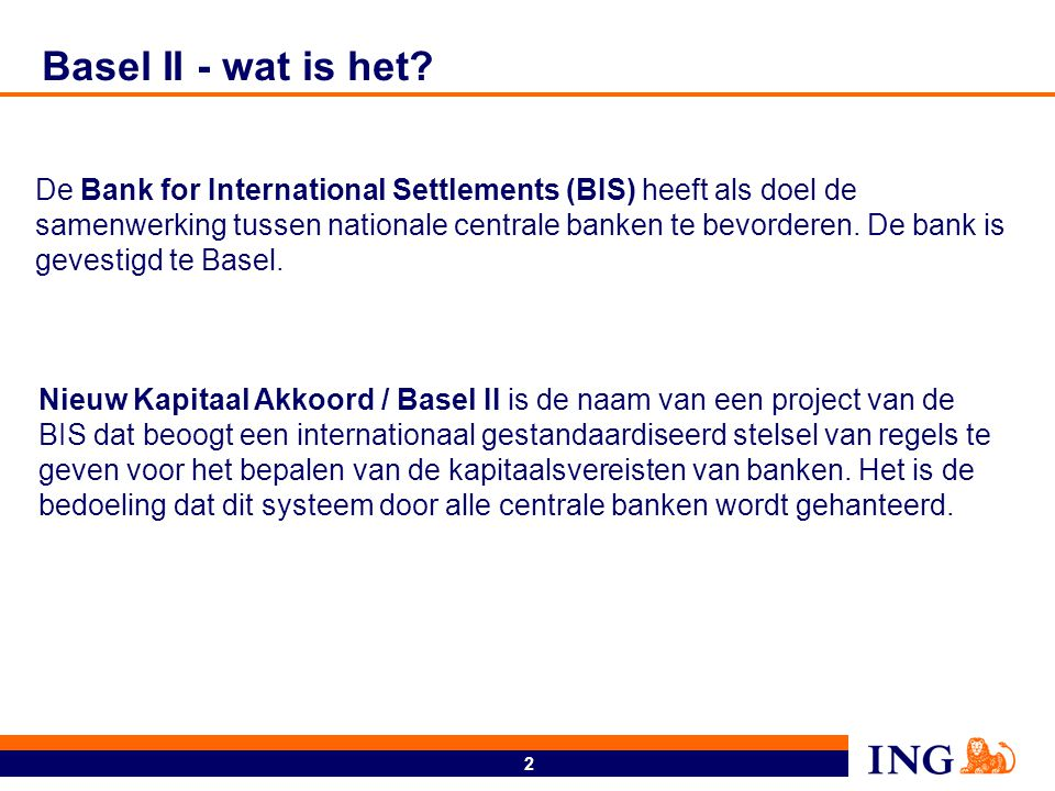 Basel II - Integraal raamwerk