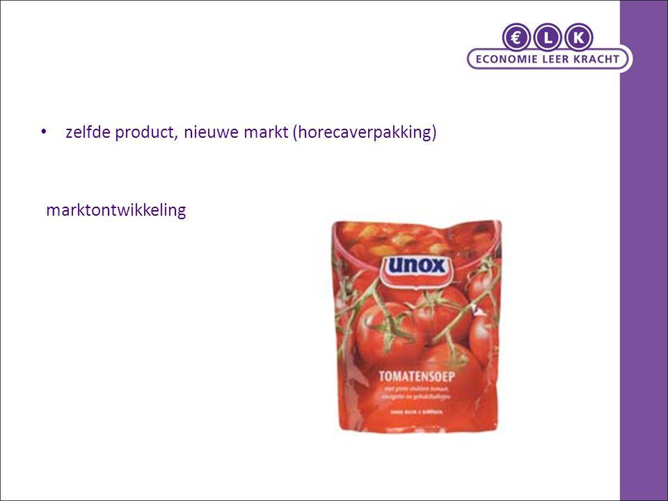 zelfde product, nieuwe markt (horecaverpakking)