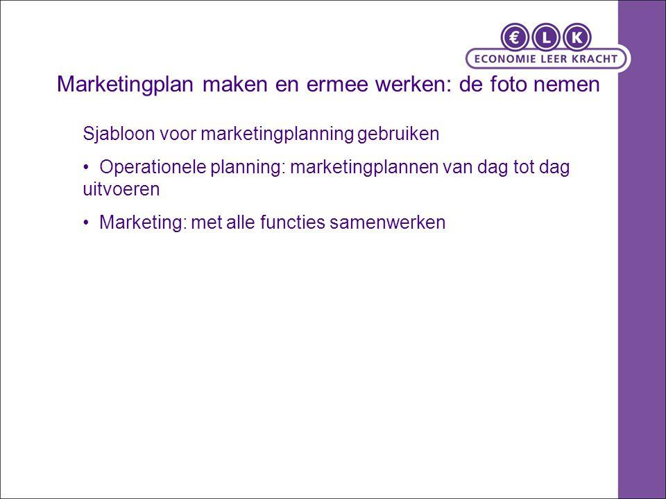 Marketingplan maken en ermee werken: de foto nemen