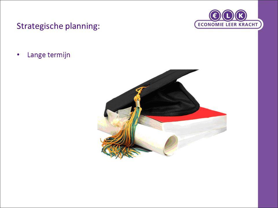 Strategische planning: