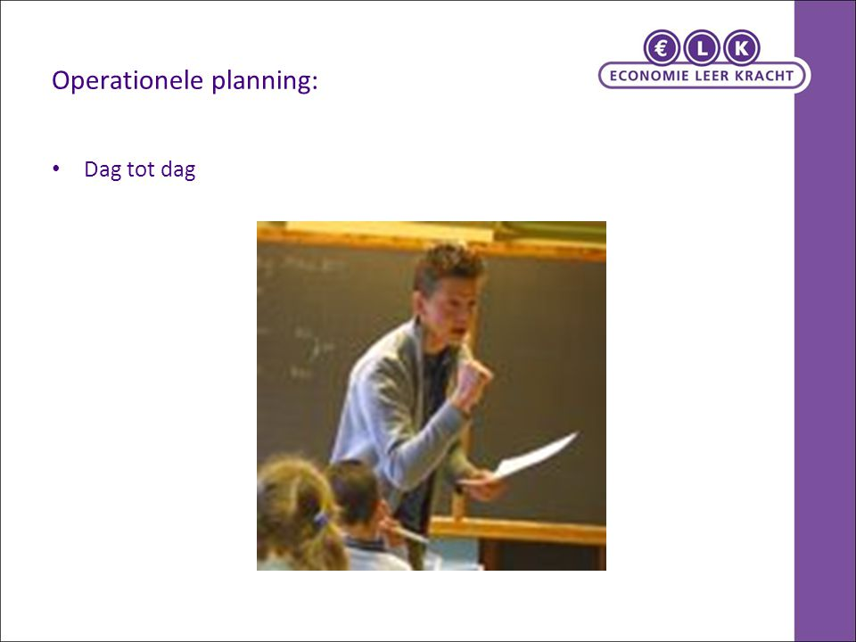 Operationele planning: