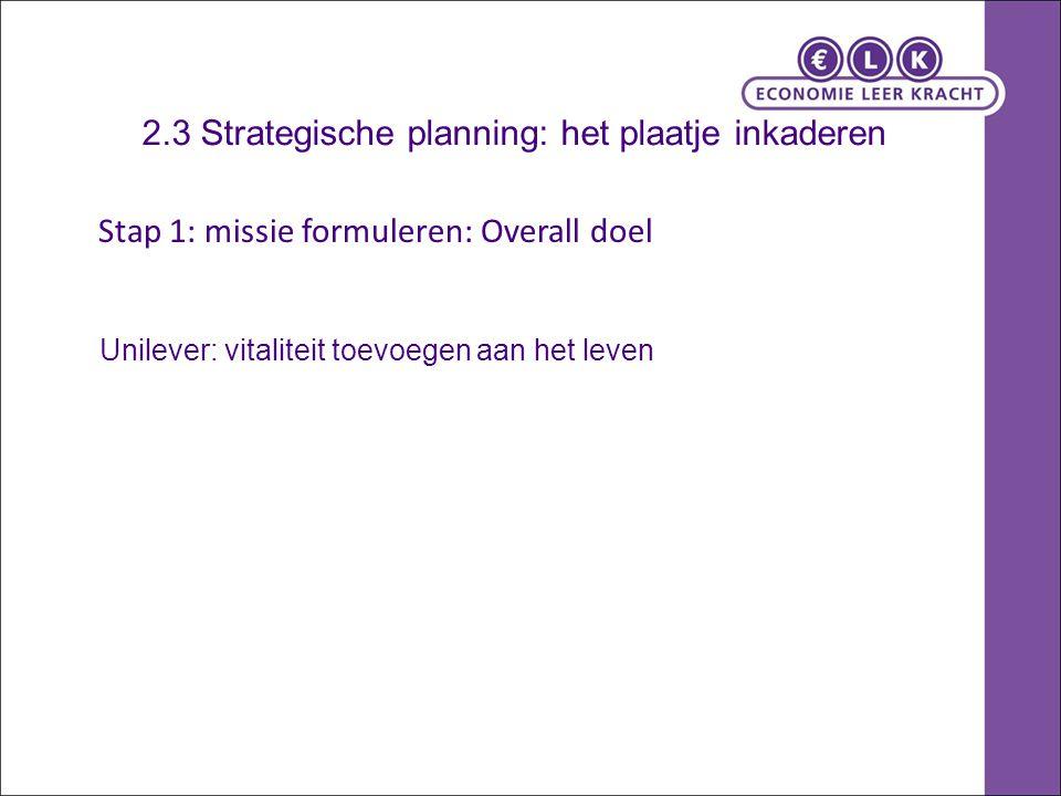 2.3 Strategische planning: het plaatje inkaderen