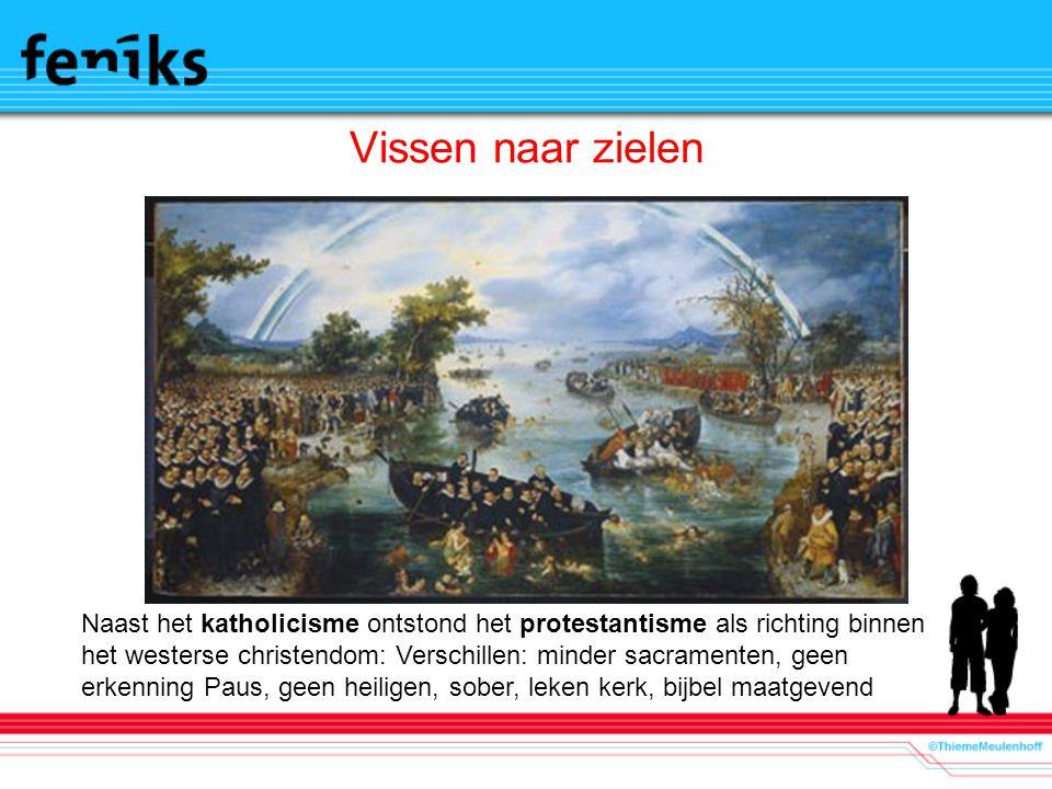 Vissen naar zielen Afbeelding: De Zielenvisserij, door A.P. van der Venne (1614)