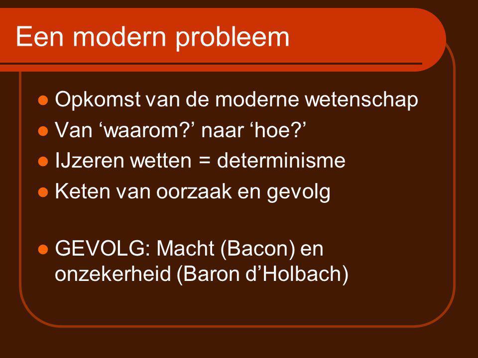 Een modern probleem Opkomst van de moderne wetenschap
