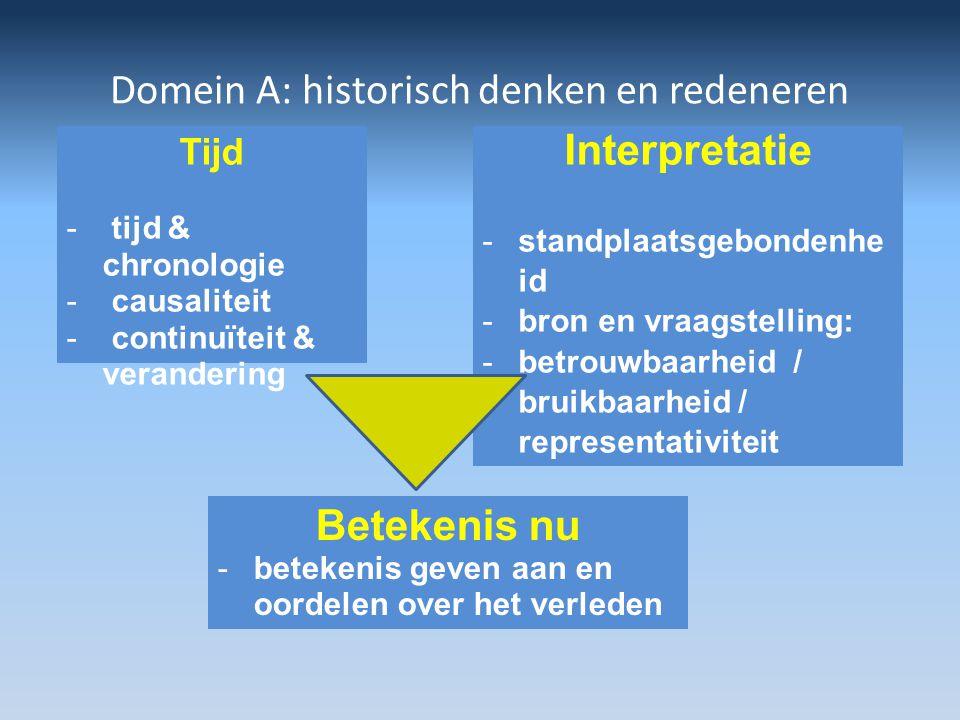 Domein A: historisch denken en redeneren