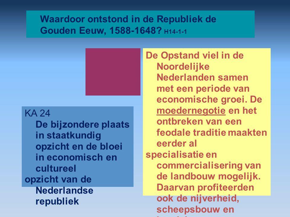 Waardoor ontstond in de Republiek de Gouden Eeuw, 1588-1648 H14-1-1