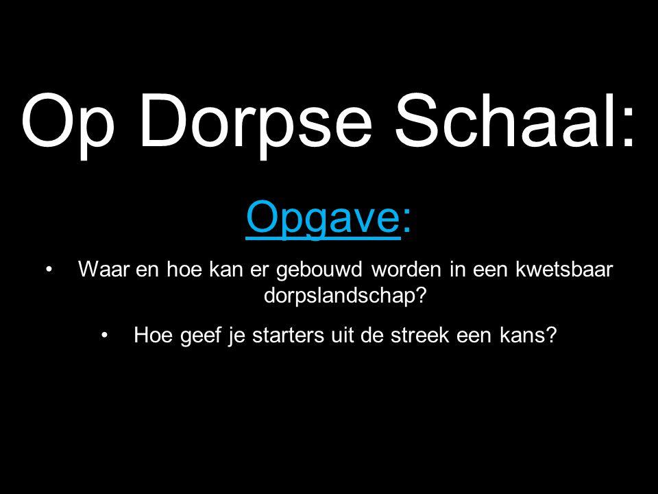 Op Dorpse Schaal: Opgave: