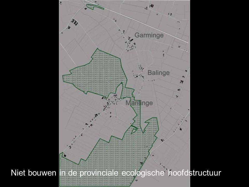Niet bouwen in de provinciale ecologische hoofdstructuur