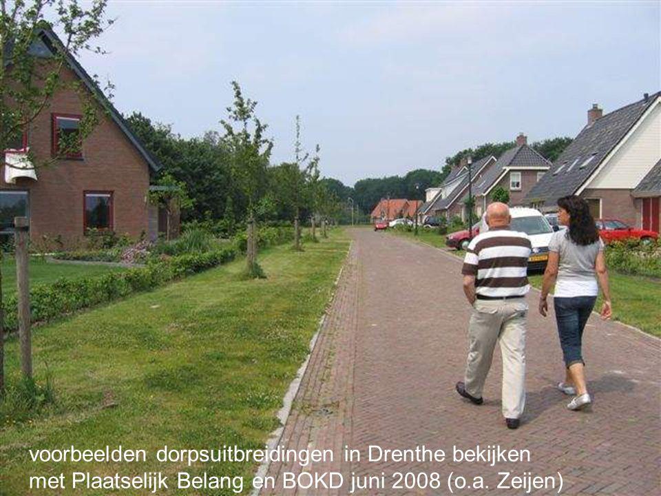 voorbeelden dorpsuitbreidingen in Drenthe bekijken