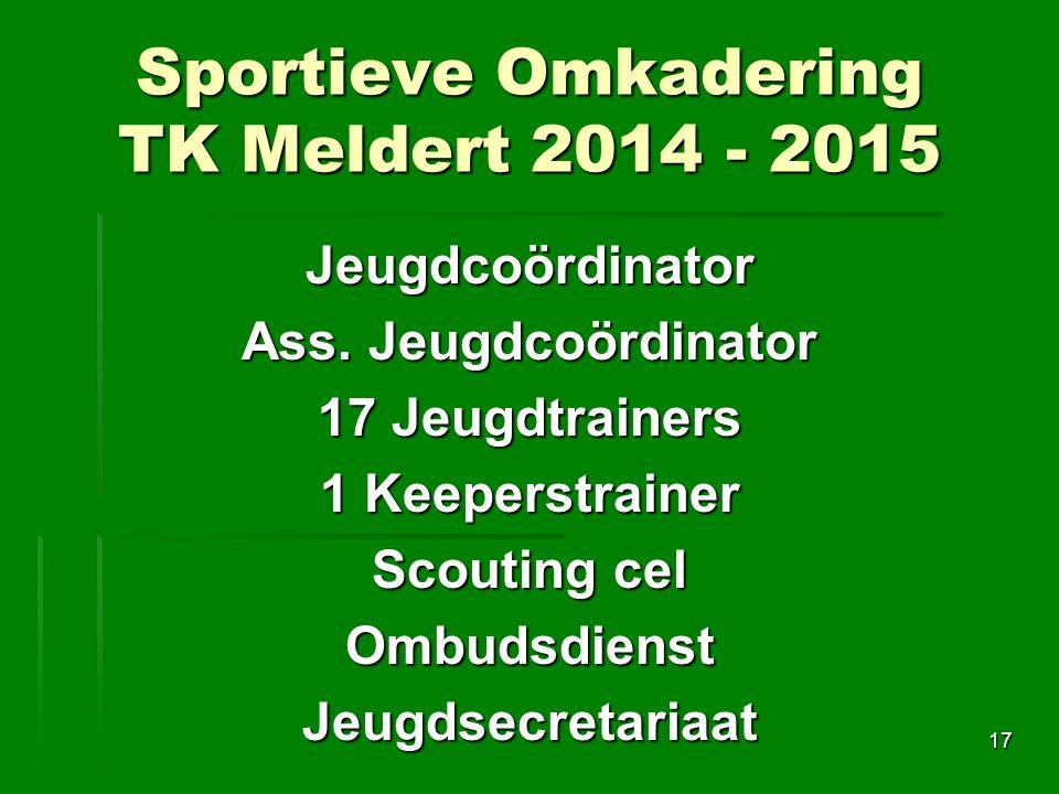 Sportieve Omkadering TK Meldert 2014 - 2015