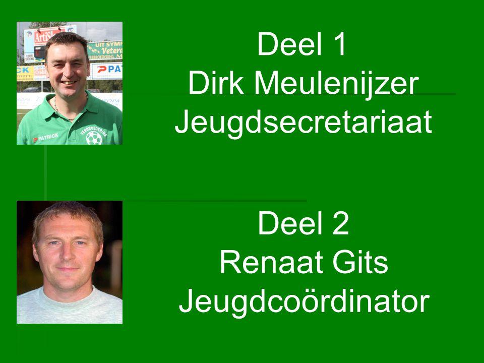 Deel 1 Dirk Meulenijzer Jeugdsecretariaat Deel 2 Renaat Gits