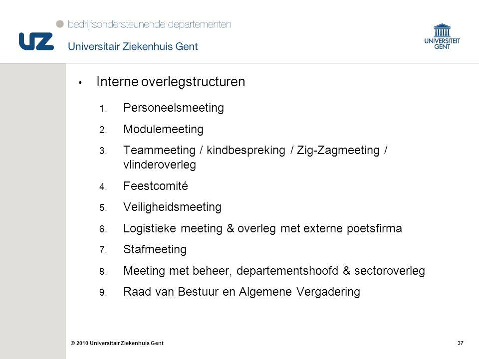 Interne overlegstructuren