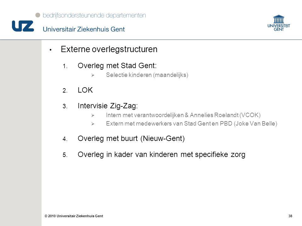 Externe overlegstructuren