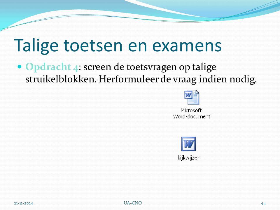 Talige toetsen en examens