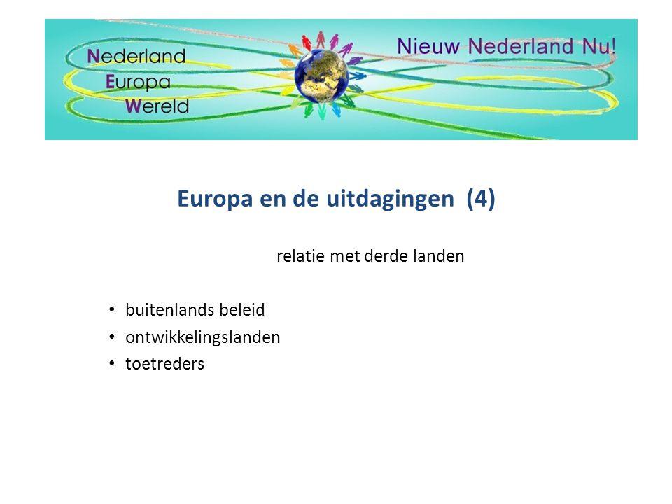 Europa en de uitdagingen (4)