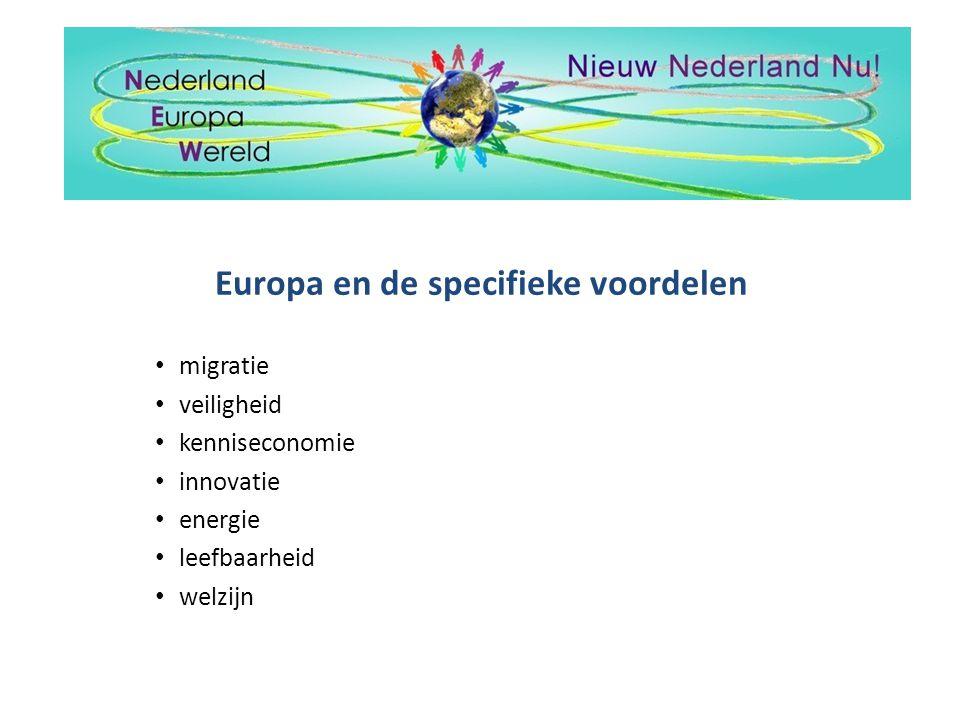 Europa en de specifieke voordelen