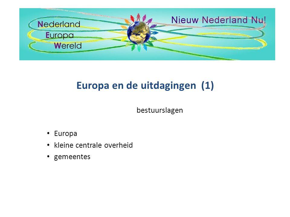 Europa en de uitdagingen (1)