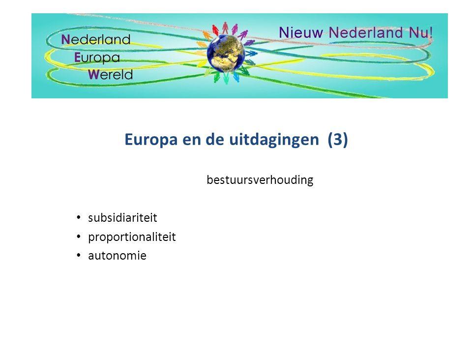 Europa en de uitdagingen (3)