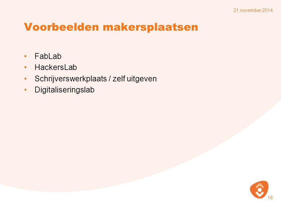Voorbeelden makersplaatsen