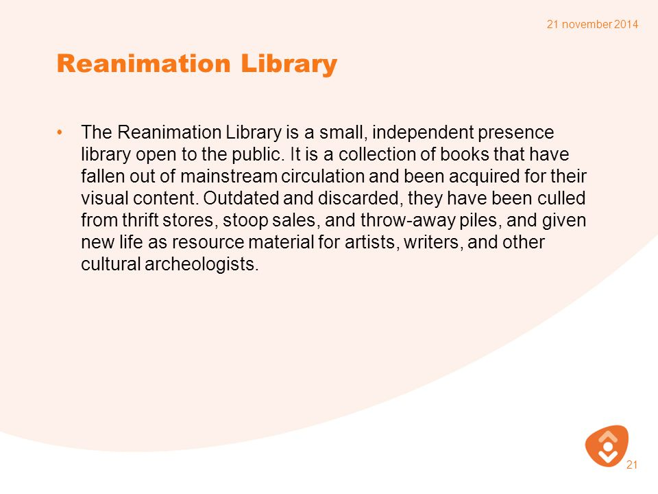 7 april 2017 Reanimation Library.
