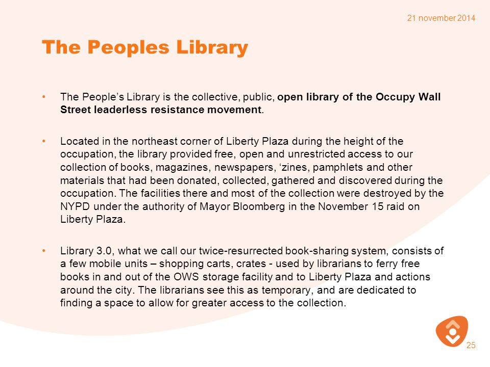 7 april 2017 The Peoples Library.
