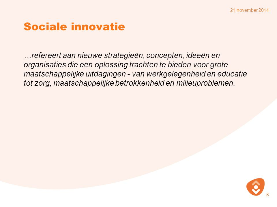 7 april 2017 Sociale innovatie.