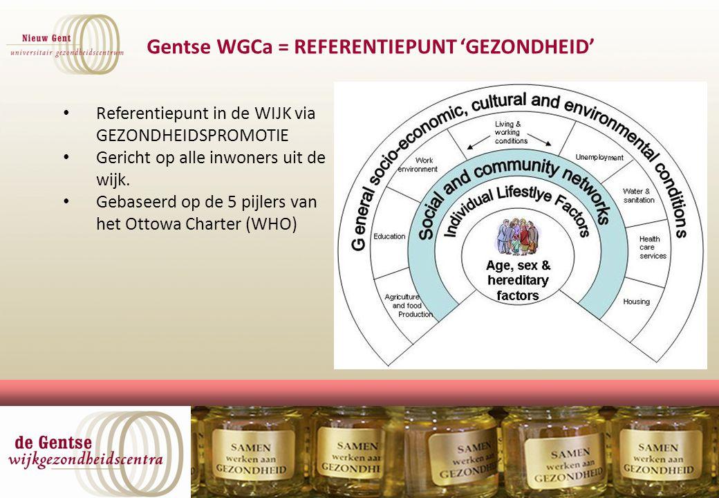 Gentse WGCa = REFERENTIEPUNT 'GEZONDHEID'