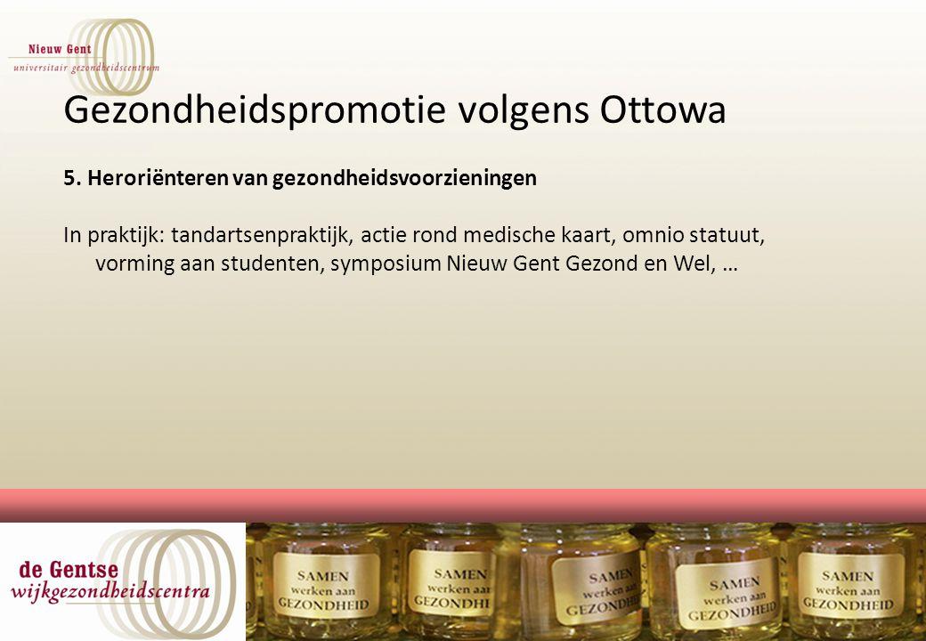 Gezondheidspromotie volgens Ottowa