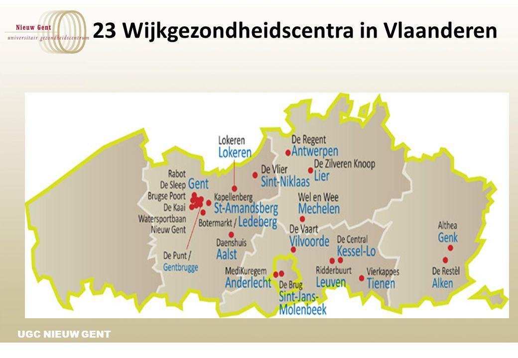 23 Wijkgezondheidscentra in Vlaanderen