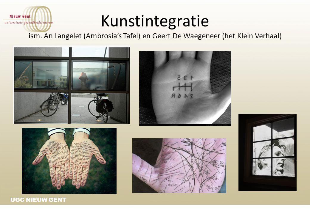 Kunstintegratie ism. An Langelet (Ambrosia's Tafel) en Geert De Waegeneer (het Klein Verhaal)