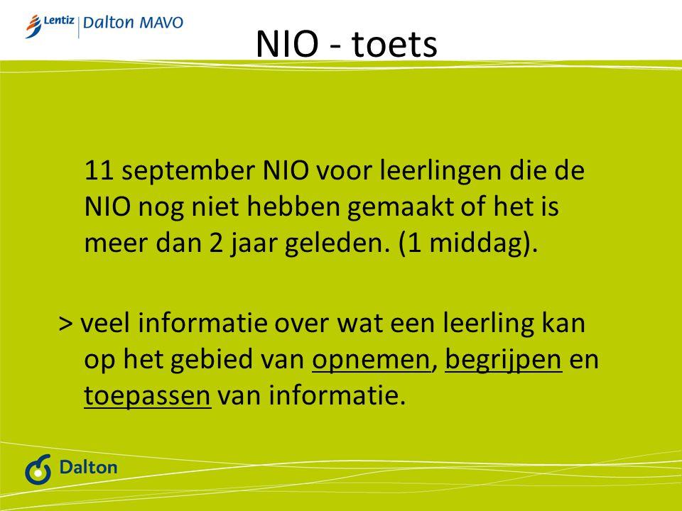 NIO - toets