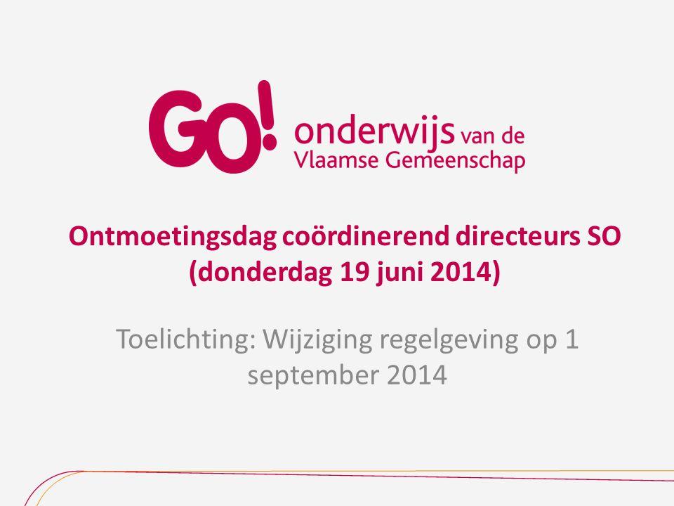 Ontmoetingsdag coördinerend directeurs SO (donderdag 19 juni 2014)