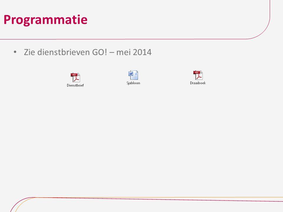 Programmatie Zie dienstbrieven GO! – mei 2014